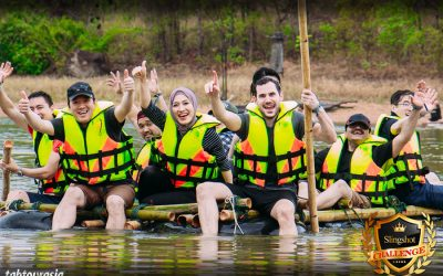 Raft Craft team building in Chiang Mai